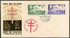 1958 Philippines KEEP ON FIGHTING TUBERCULOSIS First Day Cover