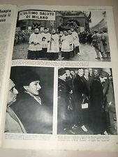 MARIA CALLAS clipping ritaglio articolo photo EUROPEO 1957/8