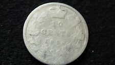 1898 CANADA TEN CENT SILVER COIN IN GOOD CONDITION E-19-16