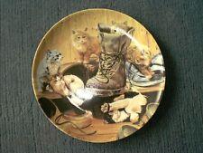 Wandteller mit Katzenmotiv - Tumult im Schuhschrank