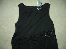 NWT $130 JS BOUTIQUE Pea in the Pod Maternity Black Sequins Sleeveless Dress L