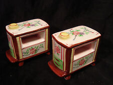 Vintage...Ceramic...Napco....Flowered  Heaters...Salt & Pepper Shakers.....Japan