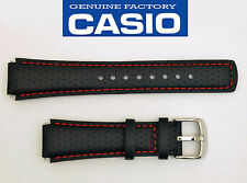 CASIO EDIFICE EFA120L WATCH BAND STRAP BLACK17mm Leather EFA-120L WITH 2 PINS
