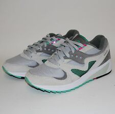 SAUCONY GRID 8000 GREY MICRO CHIP RUNNING SHOES SIZE 7.5 DISPLAY DEFECT S70197-3
