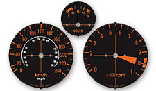 Honda CBX1000 Gauge Faces KPH / Clock Faces / Speedo Tacho Decal Sticker