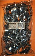 """50 Pc Hose Clamps 1-1/4"""" 2-1/4"""" Radiator Heater Adjustable Band Steel Worm Clip"""