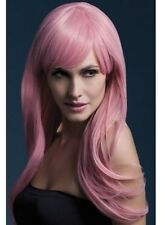 Sienna Wig Pastel Pink Long Feathered New Adult Halloween Cristmas Womens Fever