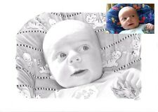 Personal BABY PORTRAIT Bespoke Present Unique Christening Gift from a photo