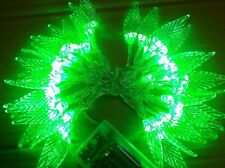 Leaf Battery Operated Green 40 LED Fairy Light String Xmas Party Decorations