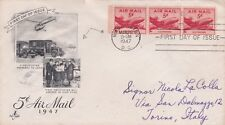 * WASHINGTON - First Day Cover 1947 First Helicopter Mail in New York to Torin
