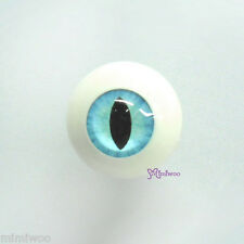 Super Dollfie SD bjd Hujoo Berry Yomi Doll Acrylic Full Round Cat Eye 20mm Blue