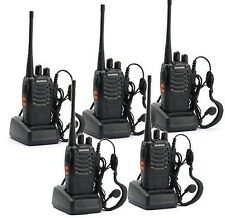 5 PCS BaoFeng BF-888S UHF 400-470 MHz Walkie Talkie 16 Channels 2 Way Radio UK