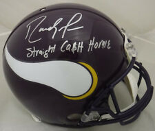 "RANDY MOSS SIGNED MINNESOTA VIKINGS 15159 PROLINE HELMET ""STRAIGHT CASH"" PSA"