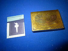 BURNS COTTAGE FRIENDSHIP / MASONIC MATCH HOLDER VESTA CASE MATCH SAFE STRIKER
