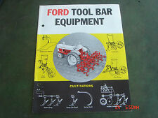 VINTAGE 1961 FORD TOOL BAR EQUIPMENT TRACTOR BROCHURE PAMPHLET Catalog #31