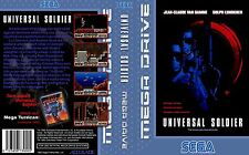 Universal Soldier Sega Mega Drive PAL Replacement Box Art Case Insert Cover Scan