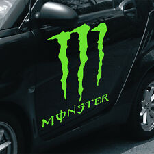 "MONSTER decal large 19""x17"" lime green vinyl graphics wrap sticker truck jeep"