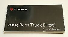 2003 DODGE RAM CUMMINS DIESEL OWNERS MANUAL LARAMIE SLT ST 4×4 2WD WT 2500 3500