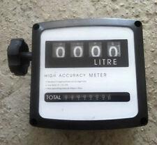 New 4 digital Diesel Fuel Oil Flow Meter Counter High Accuracy 1%