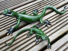 Gecko Garden Ornaments Large & Small Gecko Pair Garden Ornaments NEW