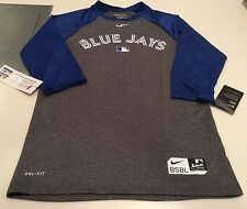Toronto Blue Jays Baseball Authentic Collection Legend 3/4 Raglan T Shirt XL