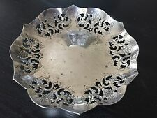 Vintage E.P. Copper Silver Plated Trinket Dish, 5 1/1 Inches Wide