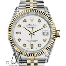 Woman's Rolex 26mm Datejust 2Two Tone White Color Dial with 8 + 2 Diamond Accent