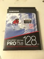 NEW SAMSUNG 128GB PRO PLUS microSDXC UHS-I Flash Memory Card CLASS10 4K Ultra HD