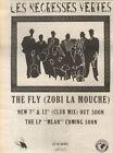 3/6/89Pgn16 Advert: Les Negresses Vertes 'the Fly (zobi La Mouche)' 10x7