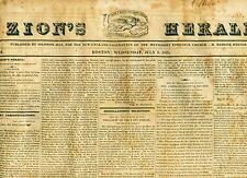 Newspaper Bolivar & Bolivian War Of Independence - Cherokees - Erie Canal  1825