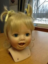 Porcelain Doll Head.  Painted