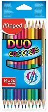 Helix Maped - Duo Coloured Pencils 829600 - Pack of 12 Pencils  (24 Colours)