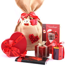 ZOROY Valentine's Love Bag extra large with card, chocolates, bar, teddy, candle