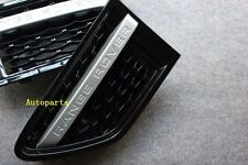 SILVER+BLACK MESH SIDE FENDER VENT GRILLE For land RANGE ROVER SPORT 2010-2012