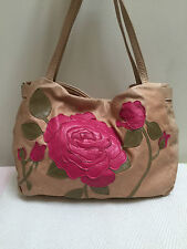 SUSANNAH HUNTER PINK BLOOMSBURY FLOWER FLORAL APPLIQUE HANDBAG BAG RRP £490