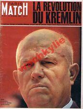 Paris Match n°811 du 24/10/1964 Krouchtchev URSS Jeux olympiques Tokyo Caron