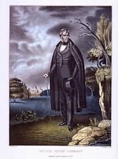 """PRESIDENTIAL CAMPAIGN POSTER ART  """"WILLIAM HENRY HARRISON""""  WHIG CANDIDATE 1840"""