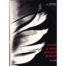RECUEIL DE TEXTES LITTERAIRES FRANCAIS / CHASSANG et SENNINGER illustré 19ème S