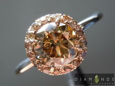1.22ct Fancy Yellow Brown Round Brilliant Diamond Ring R6190 Diamonds by Lauren