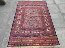 Fine Old Traditional Hand Made Afghan Oriental Kilim Somak Brown Wool 190x130cm