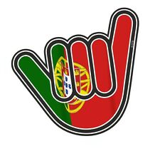 No Worries Hand With Portugal Portuguese Country Flag vinyl car Truck sticker