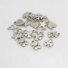 20pcs 304 Stainless Steel Charms Pendants Random Mixed Cute DIY Jewelry Finding