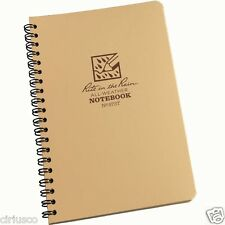 """Rite in the Rain"" All-Weather Universal 4 5/8""x7"" Side Spiral Tan Notebook"