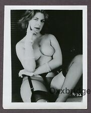 Serious Sexy Expression Femme Fatale Girl 1950 ORIGINAL NUDE PINUP PHOTO B3709