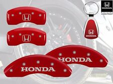 2006-2015 Honda Civic Logo Red Brake Caliper Covers Front Rear & Keychain
