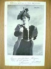 Postcards of Edwardian Theatre & Opera Stars: GALLOIS~ Vin Desiles