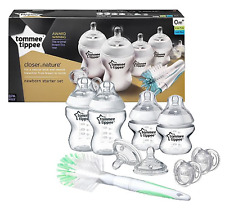 NEW TOMMEE TIPPEE NEWBORN BABY BOTTLE FEEDING STARTER KIT SET - DUMMY BRUSH