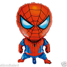 SPIDERMAN BALLOON INFALTING FOIL RED WHITE PARTY BIRTHDAY TOY KIDS FREE SPIDER @