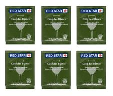 WINE YEAST 6 PACKS RED STAR COTE DES BLANCS FOR WHITES FRUITS and CIDERS Côte