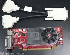 Low Profile (Half Height) PCI Express Video Card, Dual Head, 2 x DVI ports, ATI